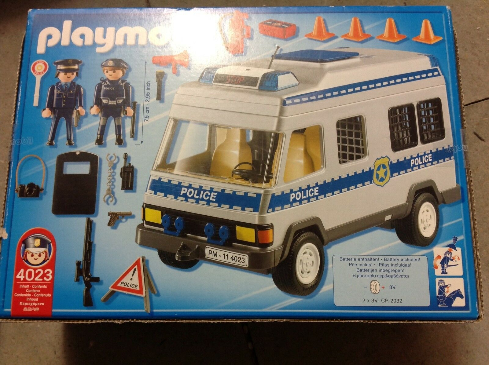 Playmobil  police van with flashing lights brand new and and and sealed 4023 f7a2a3