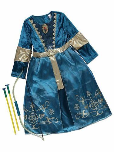 Tapferen Mädchen Disney Prinzessin Merida Kostüm,Schleife /& Pfeil Kostüm 3-10