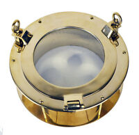 16d Solid Brass Heavy Porthole Window 5.5 Deep Flange Nautical Ship Glass Wall