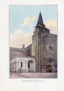 TIRAGE-COULEUR-1903-AIRE-SUR-ADOUR-CATHEDRALE-FACADE-N-O