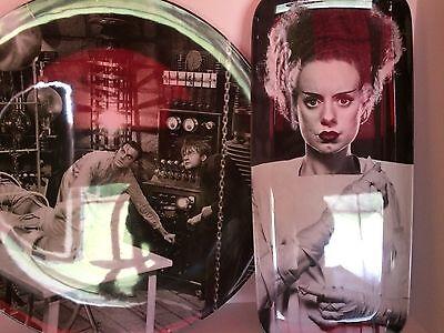 2 Universal Monsters Halloween Frankenstein Bride Snack Trays Dishes Plates
