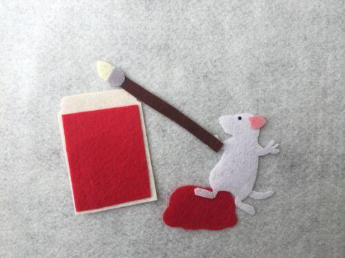 Mouse Paint Felt Board Story Set//Flannel Board//Preschool//Creative Play//ECE kids