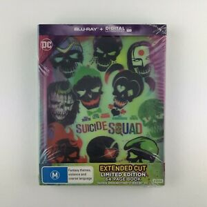 Suicide-Squad-Lenticular-Digibook-Blu-ray-2016-New-amp-Sealed