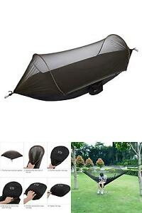 neue milit rische reisen camping zelt fallschirm h ngende h ngematte w pop up moskitonetz ebay. Black Bedroom Furniture Sets. Home Design Ideas