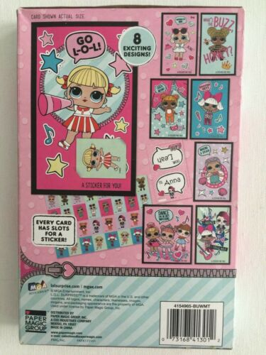 New LOL Surprise 32 Valentines Day Cards with 32 Glitter Stickers