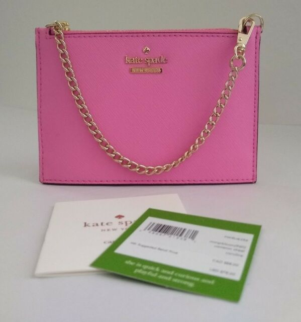 8154e7faf7fc0 Kate Spade Caroline Pouch Wristlet Cameron Street Marguerite Bloom Pink