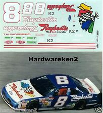 NASCAR DECAL # 8 RAYBESTOS 1993 THUNDERBIRD STERLING MARLIN JNJ DECALS