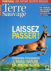 Terre Sauvage N°203 Mars 2005:portugal Ecotouriste Corridors Ecologique Sentie