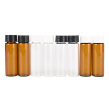 2pcs 15ml Small Lab Glass Vials Bottles Clear Containers With Screw Cap Eh3