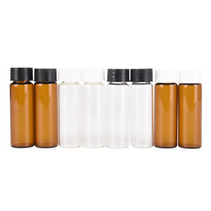 2Pcs-15Ml-Small-Lab-Glass-Vials-Bottles-Clear-Containers-With-Screw-Cap-GF