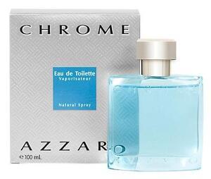 CHROME-by-Azzaro-3-4-oz-Eau-de-Toilette-Spray-Men-039-s-Cologne-NEW-100-ml-NIB