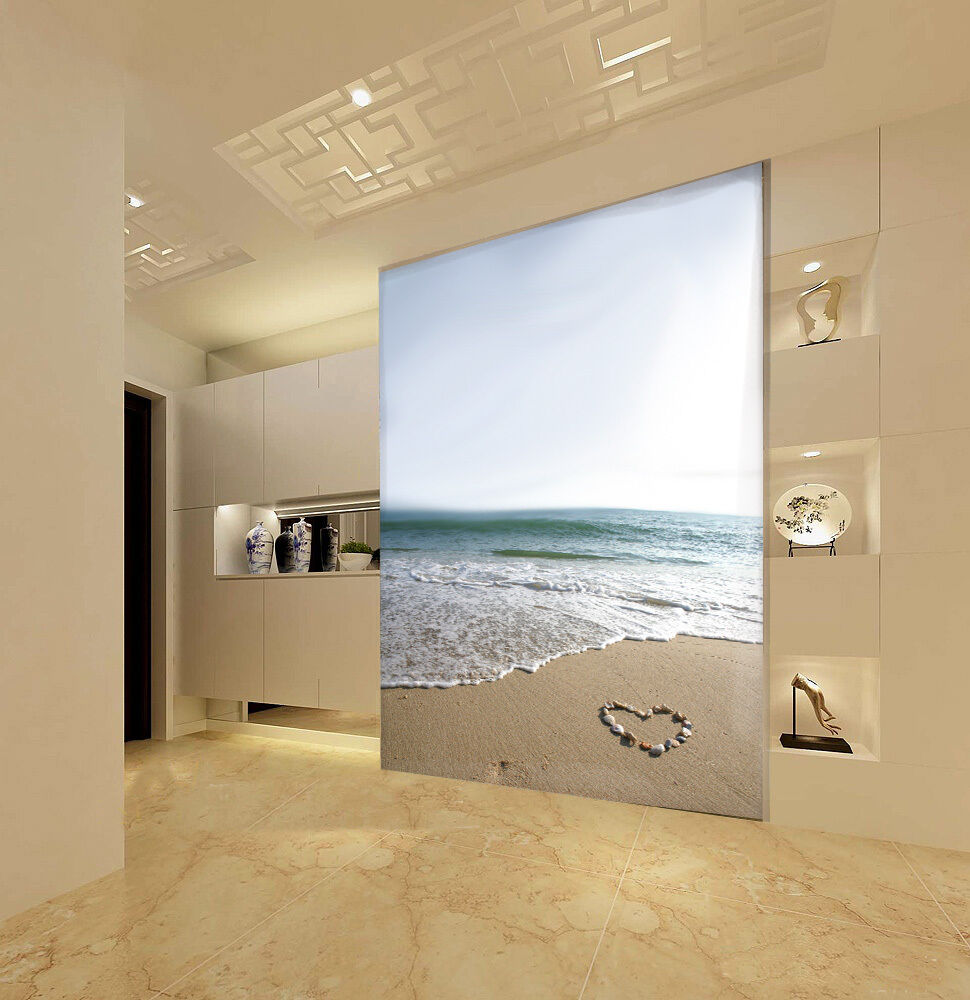 3D Mega Romantic Shells Heart 126 Wall Paper Wall Print Decal Wall AJ Wall Paper