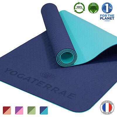 Tapis de Fitness sans polluants RE:SPORT Tapis de Yoga TPE sans Phthalates Tapis de Gymnastique antid/érapant 183 x 61 x 0,6 cm Matelas avec Sangle de Transport