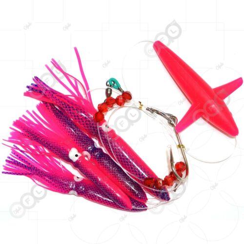 Fishing Daisy Chains Bulb Squids Bird Plane Big Game Teasing Trolling Lures lot