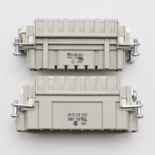 komplett Variante 1 Wieland 70.510.1653 Stecker+70.500.1653 Buchse
