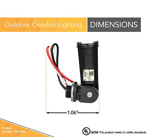 Woods 59413 59413wd Outdoor Conduit Lighting Control With Photocell and Swivel for sale online