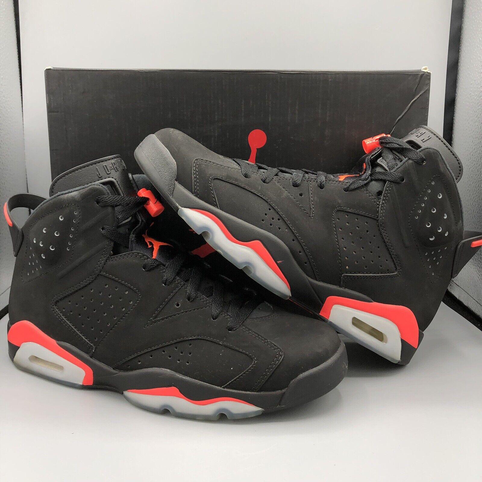 8a8bda0a93c3 Nike Air Jordan Retro Retro Retro VI Black Infrared 384664 023 Size 10  Space Jam XI