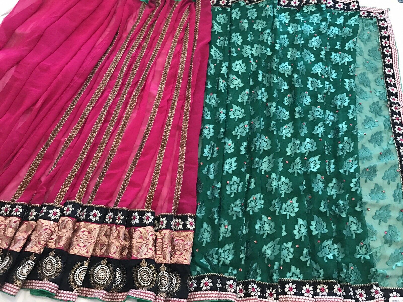Indian bollywood party wear designer saree sari with ready made blouse