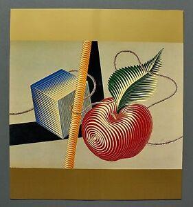 Victor-Vasarely-ETUDE-LINEAIRE-1935-Grafik-Kunstdruck-Hochglanz-Art-Print-27x30