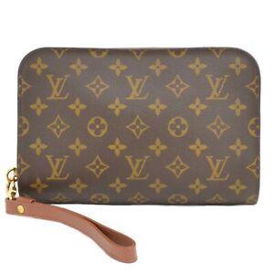 Louis-Vuitton-Orsay-M51790-Monogram-Canvas-Clutch-Second-Bag-Wristlet-Unisex-LV