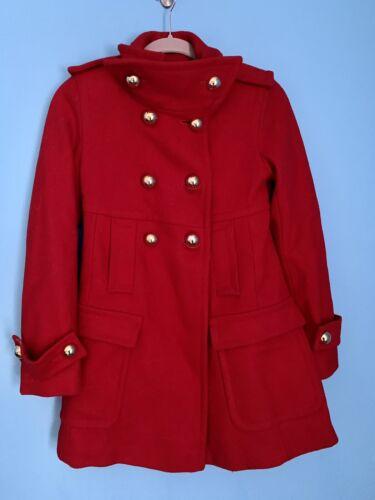 VIA Victoria Secret Red Wool Pea Coat Military Gol