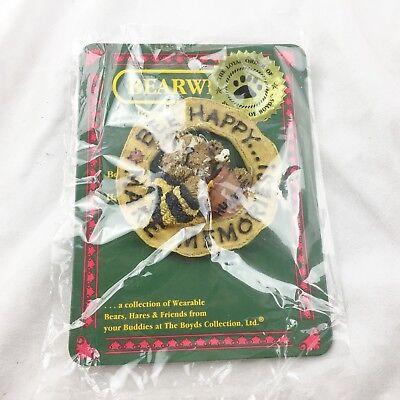 Boyd Roba Bear Ware Buzzby Bee Happy Badge-mostra Il Titolo Originale A Tutti I Costi