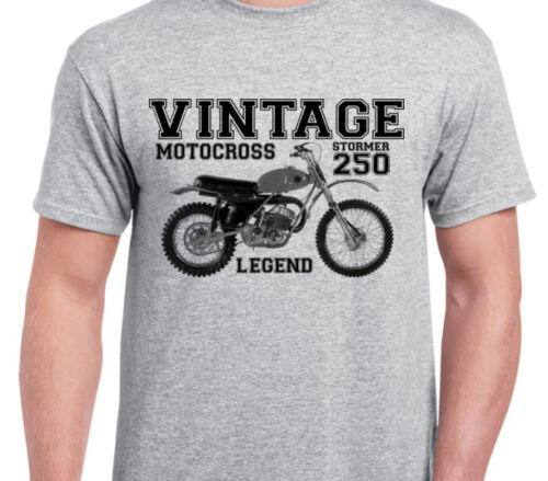 AJS STORMER INSPIRED VINTAGE MOTOCROSS TWINSHOCK tshirt