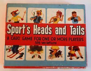RARE-difficile-da-trovare-in-scatola-1960s-Card-Game-Sports-TESTE-amp-code-Mis-abbinato-alle-persone