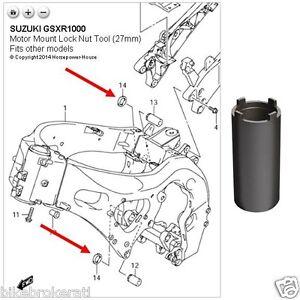 27mm SPECIAL MOTOR MOUNT LOCK NUT TOOL @ 04-22 SUZUKI GSX-R600 GSX-R750  GSXR1000 | eBay | Gsxr 600 Engine Diagram |  | eBay