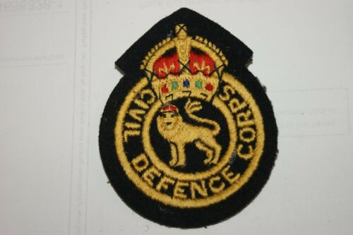 BRITISH ARMY CIVIL DEFENCE BADGE PATCH SEW ON POST WW2 BADGES NEW