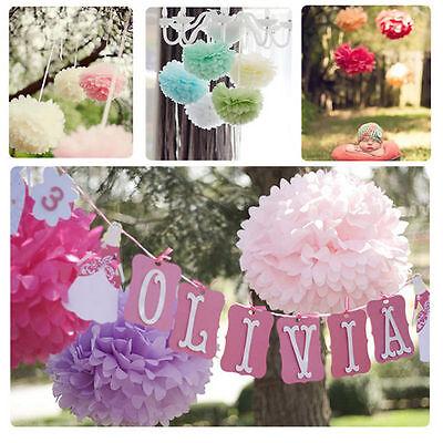 New 8'' Wedding Party's Home Outdoor Decor Tissue Paper Pom Poms Flower Balls 2X