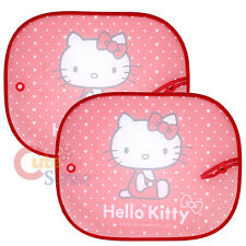 Sarino Hello Kitty Sun Shade Rare Window 2pc Auto Accessory -Red Hearts