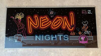 "Y-12 IGT /""Neon Lights/"" Slot Machine Glass 88664400 FAST FREE SHIP"