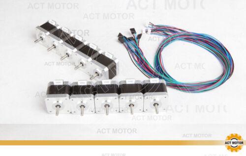 ACT 10pc Nema17 Stepper Motor 1.7A 60OZ for 3D PRINTER with Connector