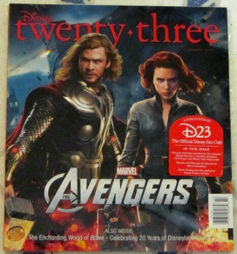 DISNEY Twenty-Three 23 SUMMER 2012 Marvel AVENGERS Thor /& Black Widow COVER NIP