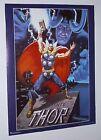 Original 1989 Marvel Comics 28 x 22 Thor comic art poster 1:1980's/Loki/Avengers
