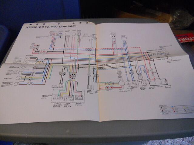 Yamaha Wiring Diagram Xt225d Xt225dc