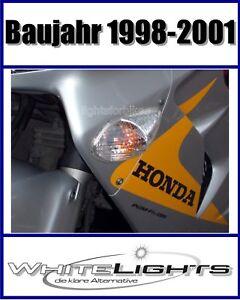 Alerte Blanche Claire Front Clignotant Honda Vfr 800 Rc 46 Clear Signals Indicators-afficher Le Titre D'origine
