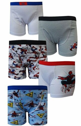 8 Marvel Comics Amazing Spiderman 5 Pack Boys Boxer Briefs for boys