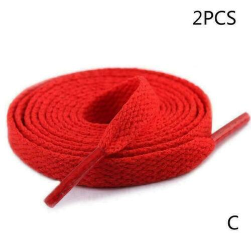 1 Pair 8mm Wide Flat Shoelaces Shoe Strings For Sneakers I6J0 Shoes Sport O2E9