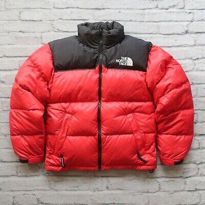 Vintage North Face 700 Down Nuptse Puffer Jacket Red Black ...