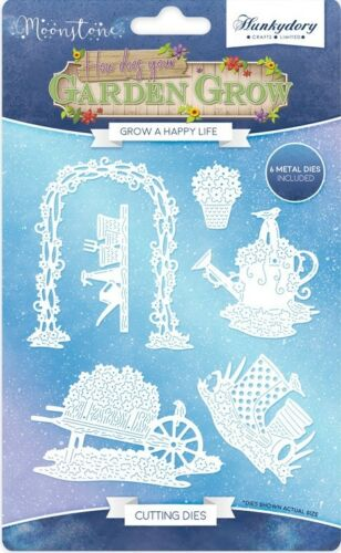 HUNKYDORY Moonstone HOW DOES YOUR GARDEN GROW Bundle ALL 4 Die Sets /& Paper Pad