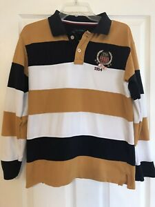 Rugby Shirt Long Sleeve Striped Nyc