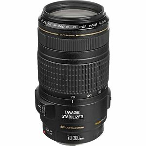 Canon EF 70-300mm F/4-5.6  IS USM Telephoto Zoom Lens - 18 Months Warranty -Bill