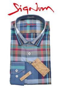 SIGNUM-HEMD-Freizeithemd-Langarm-Modern-Fit-Kentkragen-151707-Shirt-Gr-M-2XL