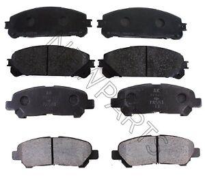 Front Ceramic Brake Pad Set /& Rotor Kit for 2008-2014 Toyota Highlander