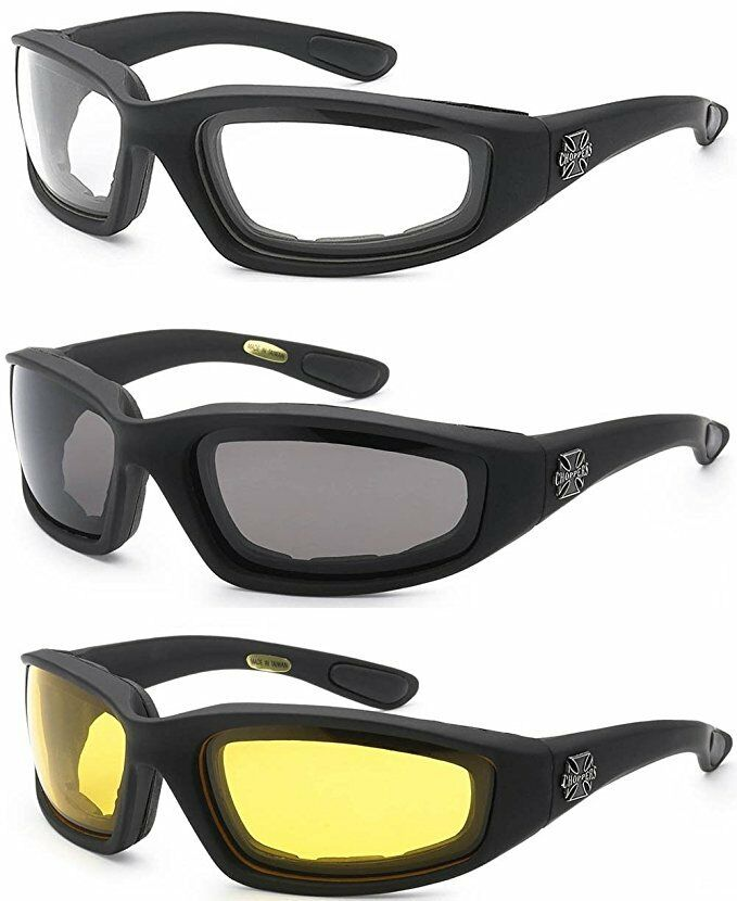 HiSurprise 3 Pair Motorcycle Riding Glasses Clear