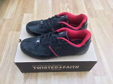 MENS TWISTED FAITH LACE UP TRAINERS STYLE ENZO BLACK SIZE 6