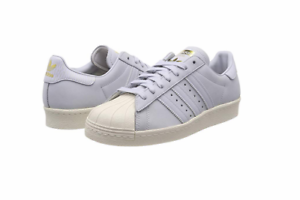 reputable site 7c4bd 73639 Details about ADIDAS B41520 Superstar 80s W Wmn's (M) Aero Blue/Aero Blue  Nubuck Casual Shoes