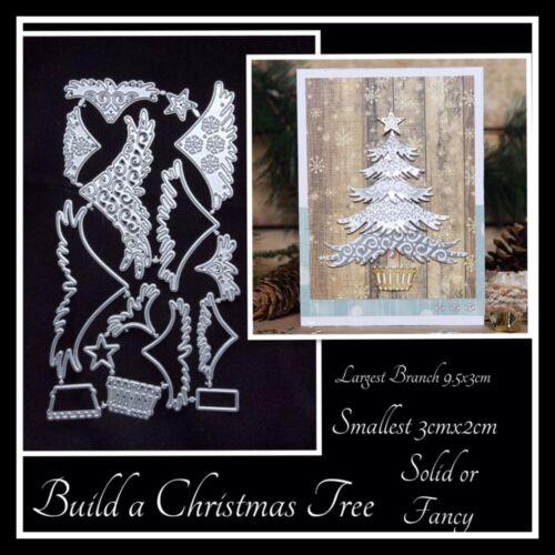 Metal Cutting Dies Christmas Tree build a Tree 15 die shapes
